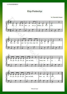 Elsje Fiederelsje - Gratis bladmuziek van kinderliedjes in eenvoudige zetting voor piano. Piano leren spelen met bekende liedjes. Piano Music, My Music, Sheet Music, Music For Kids, Kids Songs, Guitar Chords, Harp, Keyboard, Poems