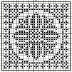 Square 08 | Free chart for cross-stitch, filet crochet | Chart for pattern - Gráfico