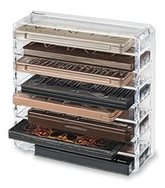 8 Space Acrylic Palette Organizer, Clear