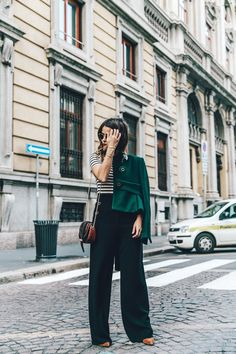Salvatore_Ferragamo-Striped_Top-GReen_Jacket-MFW-Milan_Fashion_Week-Outfit-Street_Style-Collage_Vintage-11