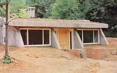 partially underground earthbag home plans | Underground Home Directory - earth-sheltered and underground home ...