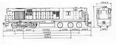 Tren Diesel Chile - Locomotora D-18.000 Alco
