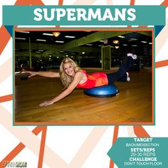 Tighten up your mid section with Superman's! Great ab workout explained click on pin to find out more! This is a great calorie and fat burning exercise!