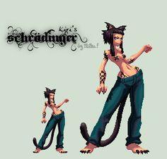 Pixel animated Schrodinger by Rik-VReal