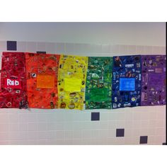 Color collage/mural that my students worked on!