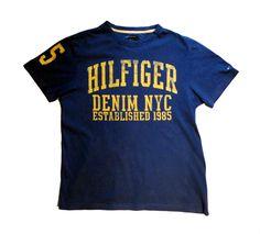 Tommy Hilfiger T-shirt men's denim NYC Size S/P 100% cotton shirt  #TommyHilfiger #tshirt #shirt