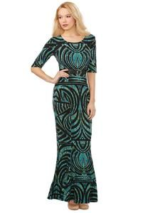 Belted Mermaid Maxi Dress