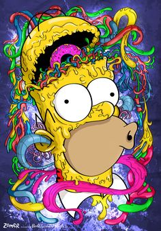 Imagine Homer Simpson as a zombie on LSD. Imagine Homer Simpson as a zombie on LSD. Graffiti Wallpaper, Trippy Wallpaper, Cartoon Wallpaper, Mobile Wallpaper, Crazy Wallpaper, Cartoon Kunst, Cartoon Art, Iphone Cartoon, Trippy Cartoon