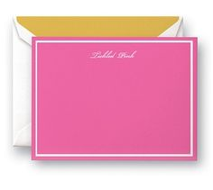 Tickled Pink Kate Spade Correspondence Cards