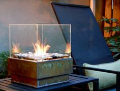 Love the idea of a tabletop fire pit! Great for urban gardens or to define a small patio area.