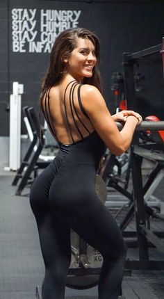 3982dc306ef4e0 Brazilian Workout Jumpsuit - Scrunch Booty Lux Catsuit Black Workout  Jumpsuit, Brazilian Workout, Fitted