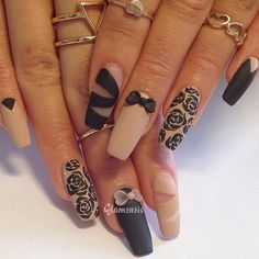 Matte nails are quite trendy right now, and this trend is perfect for women who prefer their manicure to be darker and edgier.