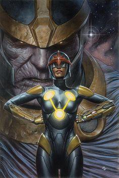 Infinity Gauntlet 1. Anwen Bakian, member of Nova Force &Thanos - Adi Granov