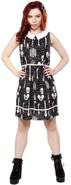 Anatomically Correct Dress  -  by: Folter  -  material: 100% Cotton  -  color: Black / White  -  size: Medium  -  $68.00