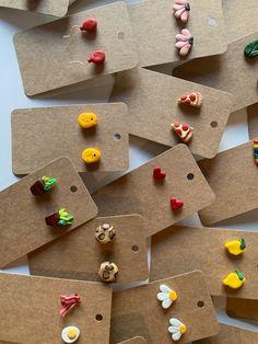 Cute Polymer Clay, Cute Clay, Polymer Clay Charms, Polymer Clay Earrings, Clay Art Projects, Polymer Clay Projects, Clay Crafts, Diy Clay Rings, Clay Creations