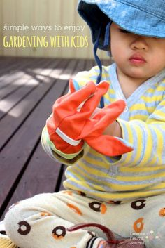 Five simple ways to enjoy gardening with kids - great outdoor play ideas.