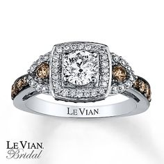 Le Vian Engagement Ring 1 3/8 ct tw Diamonds 14K Vanilla Gold