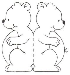 TEDDY BEAR PRINTABLE COLORING PATTERN