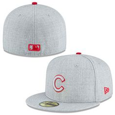 Get this Chicago Cubs Heather League 5950 Fitted Cap at ChicagoTeamStore.com