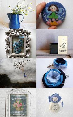 Blue Spring Flowers by Silvia Paparella on Etsy--Pinned with TreasuryPin.com