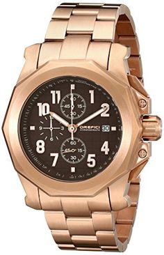 Orefici Unisex ORM6C4404BR Analog Display Quartz Rose Gold Watch -- To view further for this item, visit the image link.