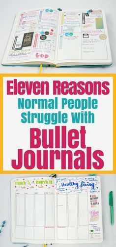 Bullet Journal Struggles- 11 reasons why people fail at bullet journals and ideas to overcome any bullet journal problem.
