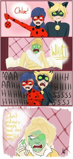 Miraculous Ladybug & Chat Noir - Chloes Beauty Sleep | The Emperor's New Groove AU by PeruGirl199.deviantart.com on @DeviantArt