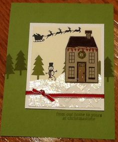 Holiday Home Stampin Up! 2014 Holiday Catalog Christmas Scene #holidayhome #2014HolidayCatalog