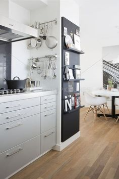 10 blackboard concepts in your kitchen – Concepts, inspiration, purchasing record, the blackboard is each sensible and classy. Kitchen Interior, Home Decor Kitchen, Kitchen Blackboard, Home Furnishings, Home, Dining Room Design, Home Furniture, Home Kitchens, Kitchen Design