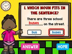 Singular and Plural Nouns Power point Game by The Kinder Kids | TpT