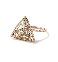 I've always wanted a triangle engagement ring to remind me that my relationship is three-sided. Me. My Man. God. :)