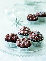 Zasněžené cupcakes