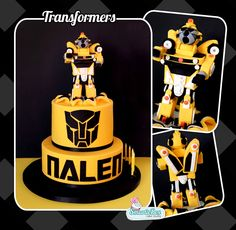 Transformers Cake with Bumblebee