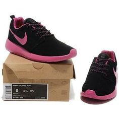48645b097f07c Nike Womens Roshe Run Black Pink Nike Shoes 2017