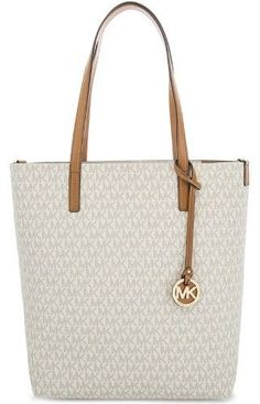 2af16ade04b3 Michael Kors Hayley Large North South Top Zip Tote - Vanilla Acorn -  30S7GH3T3V-149