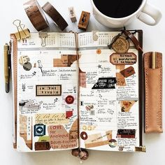 | a look back • week 45 | #liveauthentic #livefolk #livethelittlethings #nothingisordinary #coffee #coffeetime #midoritravelersnotebook #midori #travelersfactory #travelersnotebook #zakka #travelersnote #journal #planner #stationerylove #stationery #plannerlove #plannernerd #stamps #stickers #scrapbooking #papercraft #onthetable #typography #handwriting #vsco #vscocam