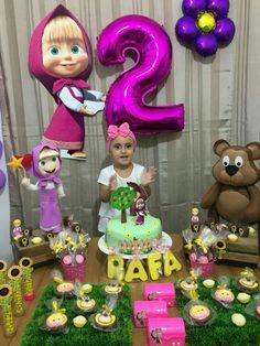 Cumpleaños Bear Birthday, 3rd Birthday Parties, Birthday Party Decorations, 2nd Birthday, Marsha And The Bear, Bear Party, Ideas Para Fiestas, Holiday Themes, Baby Shower Parties