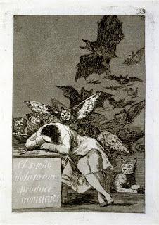 La ciudad que asesinó a los mitos F. de Goya, El sueño de la razón produce monstruos