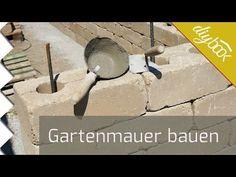 Gartenmauer selber bauen - Die Betonsteinmauer - YouTube