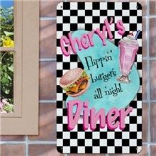 Personalized Retro Diner Kitchen Wall Signs