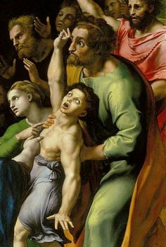 Raphael, The Transfiguration, 1516-1520, oil on panel.  Pinacoteca Vaticana, Vatican City