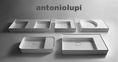 Antonio Lupi Graffio: lavabi in Ceramilux soprapiano o a parete
