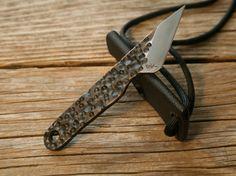Custom 1084 Steel Small Kiridashi Eroded by JaredKramerStudios
