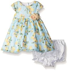 Pippa  Julie Baby Lemon Printed Party Dress Multi 69 Months -- Visit the image link more details. (This is an affiliate link) #BabyGirlDresses