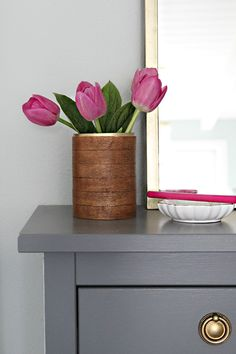 IHeart Organizing: DIY Pretty PVC Containers | good post