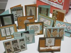 Stampin' Up! Spice Cake DSP One Sheet Wonder by kstats - Cards and Paper Crafts at Splitcoaststampers