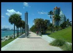 South Pointe Park, Miami Beach. FABULOUS PARK!!!!!!!!!!!!! Love watching the cruise ships pass as I bike or rollerblade. i love biking to the beach and breathing in the ocean air!!!!