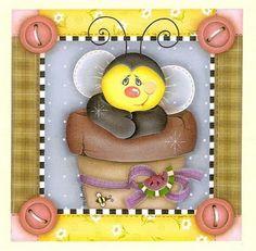 Baú de Figuras: Imagens de abelhas fofas para decoupage