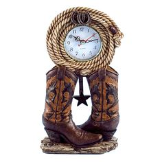 Boots with Rope Clock