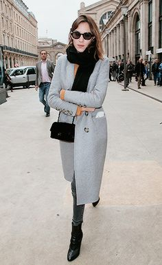 Alexa Chung arriving in Paris at Gare du Nord station on March 10, 2015 in Paris, France.